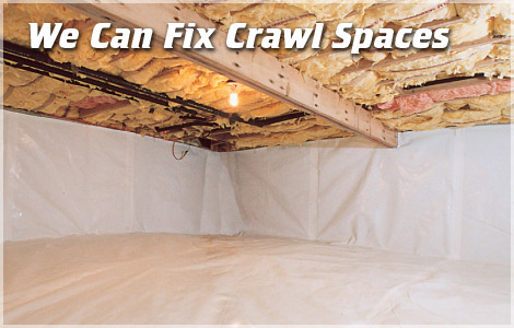 Dr. Energy Saver fixes Crawl Spaces